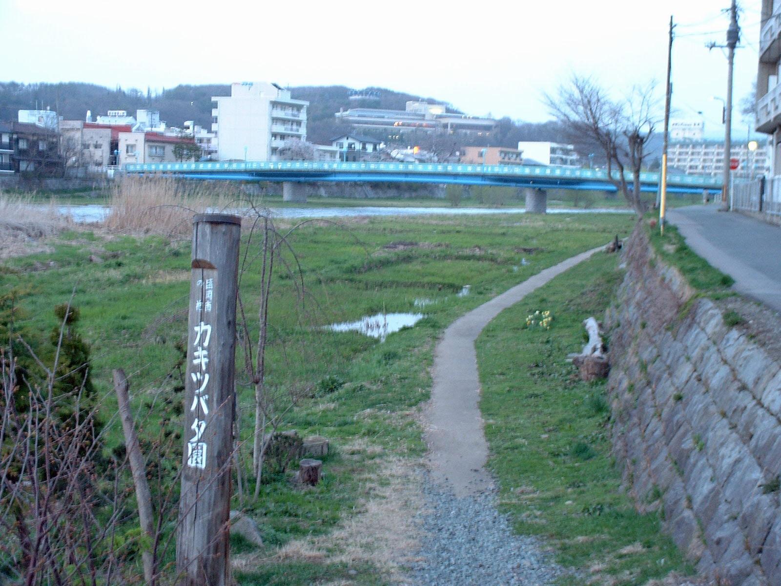 中津川 河原の細道