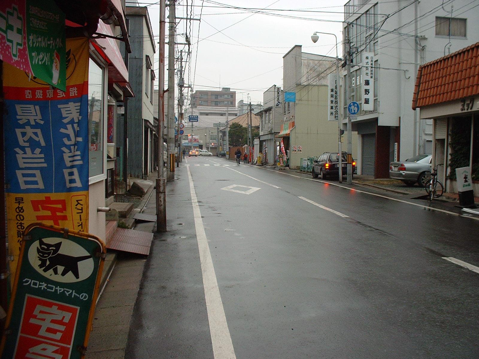 雨上がりの本町通