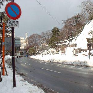 雪化粧の石垣