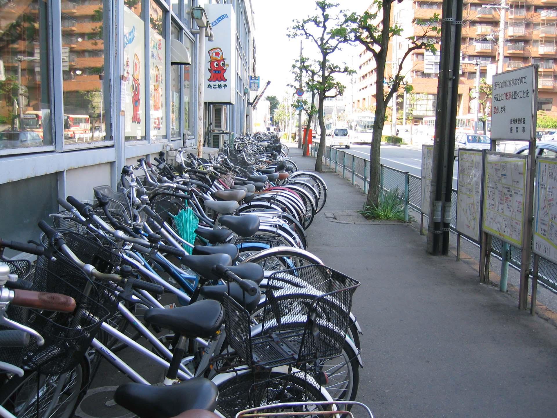 自転車がぎっちり