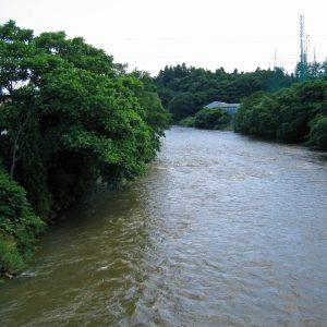 北上川にごってました