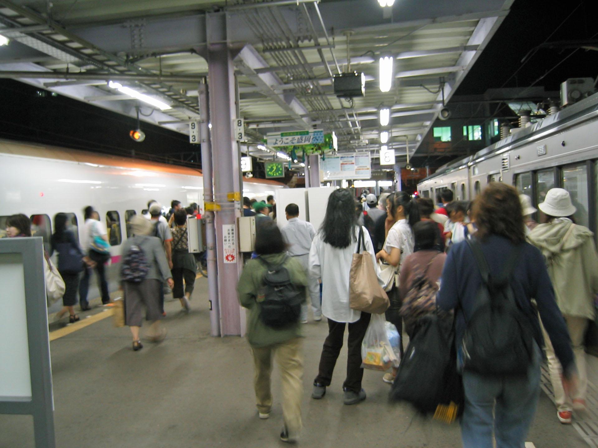 盛岡駅到着