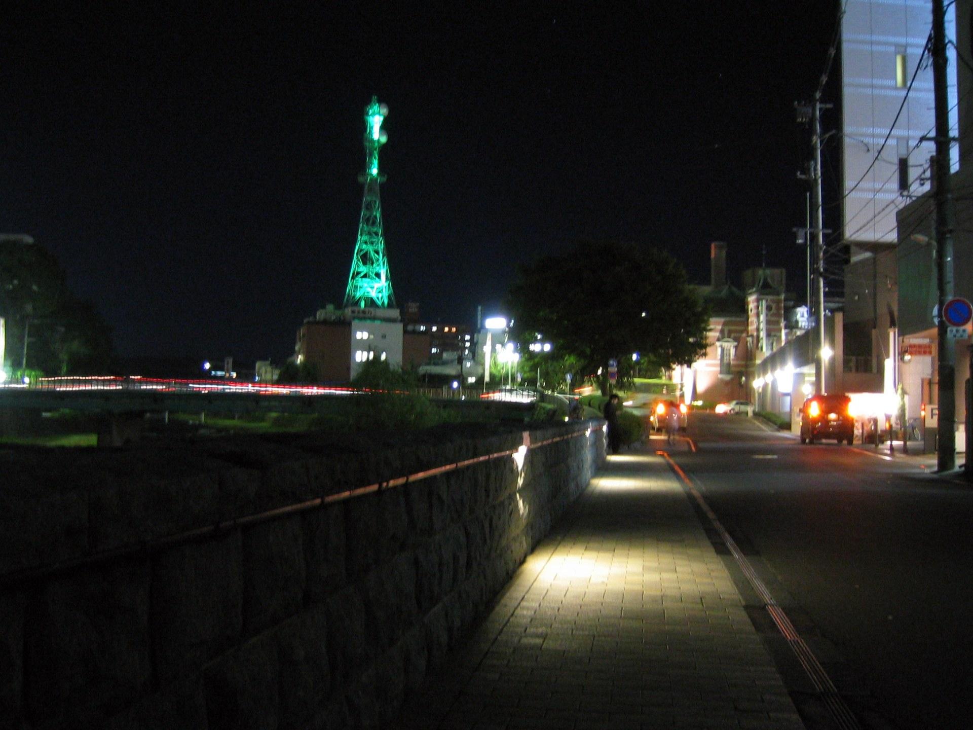 夜の中ノ橋